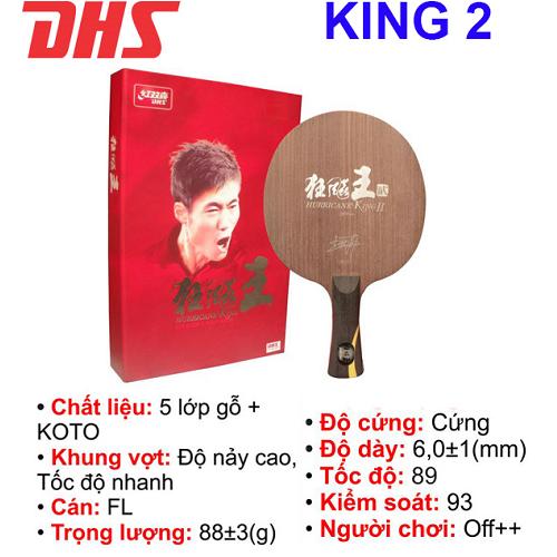 Cốt vợt  bóng bàn DHS – KING 2