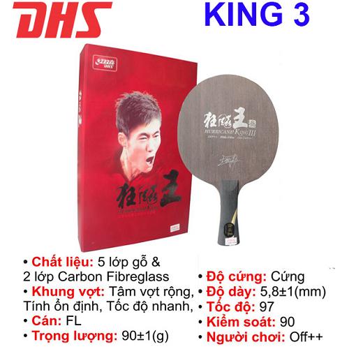 Cốt vợt  bóng bàn DHS – KING 3