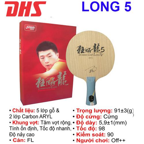 Cốt vợt  bóng bàn DHS – LONG 5