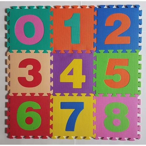 Bộ 12 thảm xốp hình số cho bé 30x30cm