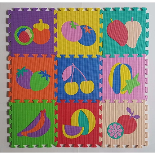 Bộ 10 tấm thảm xốp lót sàn cho bé hình trái cây