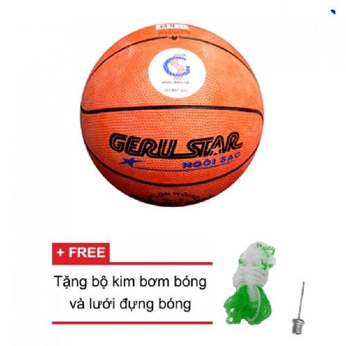 Quả bóng rổ Gerustar số 5 cao su (Cam)