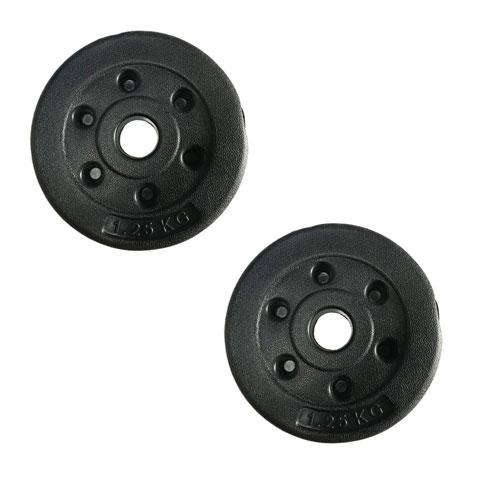 Bộ 2 tạ miếng nhựa đen 1.25kg