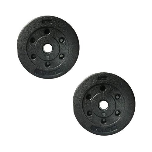 Bộ 2 tạ miếng nhựa đen 2