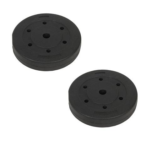Bộ 2 tạ miếng nhựa đen 7