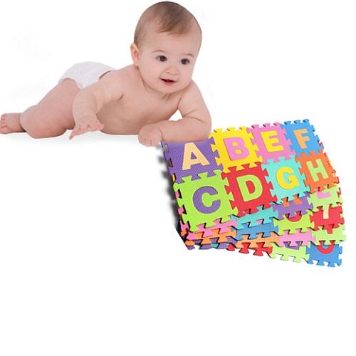 Bộ 40 tấm thảm xốp lót sàn trẻ em chữ cái và số