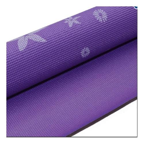 Thảm tâp Yoga hoa (Tím)