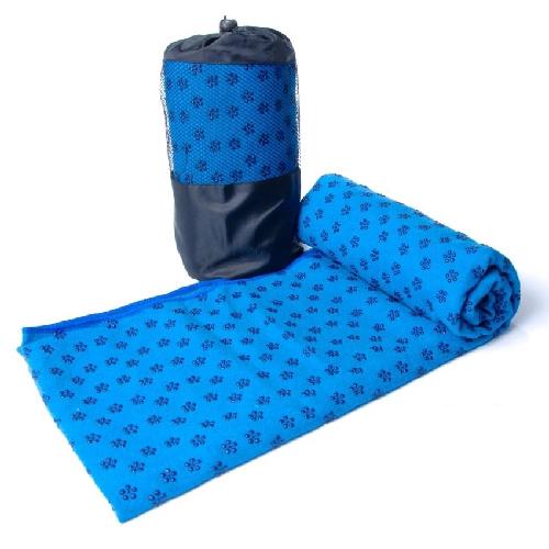 Khăn trải thảm tập Yoga bằng hạt PVC cao cấp chống trơn (Xanh)