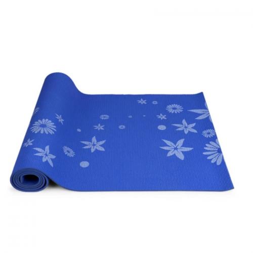 Thảm tâp Yoga hoa (Xanh)