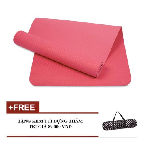 Thảm tập yoga TPE Eco kèm túi (Hồng)